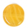 Glass Pressed Beads 8mm Flat Round Butter Yellow